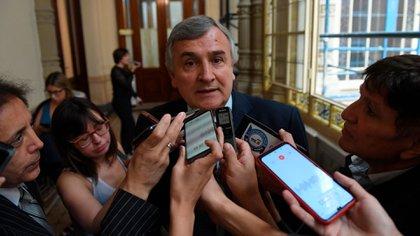 Gerardo Morales, en el Congreso, luego de una reunión con diputados radicales