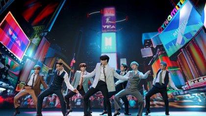 Es la primera vez que la banda surcoreana se presenta en la gala de premiación estadounidense (Foto: MTV)