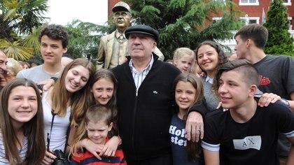 En Ferro tiene su estatua en la sede social (Foto: Télam)