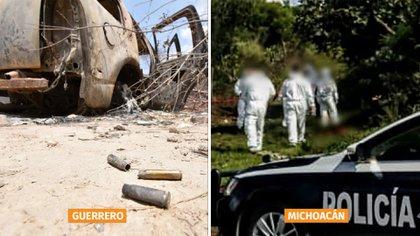 El lunes 20 de abril, Guerrero y Michoacán registraron 20 homicidios en total (Foto: Especial)