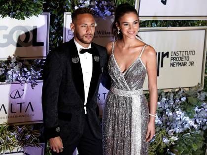 Neymary su novia Bruna Marquezine durante el evento de la fundación Project Neymar Jr en Sao Paulo (REUTERS/Nacho Doce)