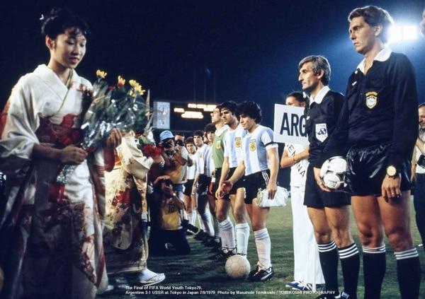 Momento previo a la final: los himnos y la cultura japonesa se fusionaron antes del pitazo inicial del árbitro Ramiz Wright