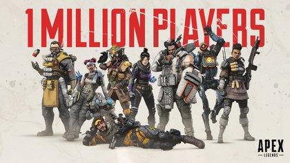 En sólo ocho horas de streaming en Twitch, Apex Legends llegó al millón de jugadores.