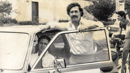 Pablo Escobar y su esposa María Victoria Henao.