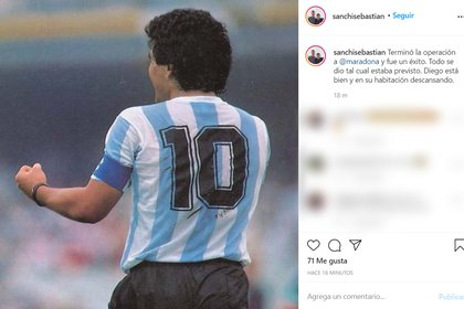 El mensaje que confirmó que Maradona salió airoso de la intervención