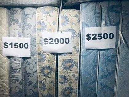 Los colchones fueron puestos a la venta para recuperar poder recuperar algo de la pérdida