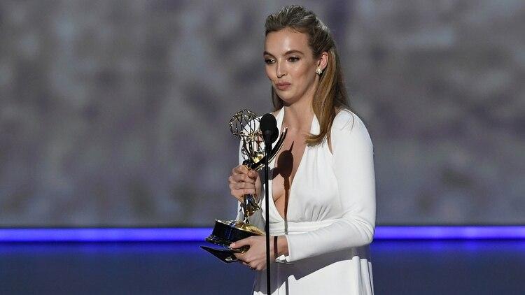 """Jodie Comer, mejor actriz de serie dramática por """"Killing Eve"""" (Kevin Winter/ Getty Images/ AFP)"""