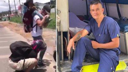 Paramédico que regaló sus zapatos a un migrante murió arollado minutos después