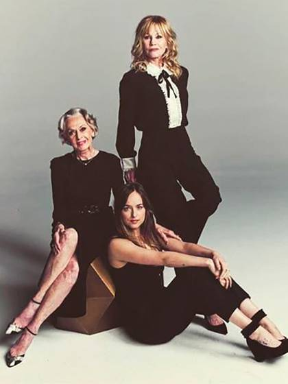 Tippi Hedren con Melanie Griffith y Dakota Johnson