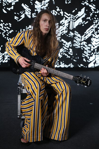 El estampado a rayas, uno de los hit de la temporada de primavera-verano 2021 de Kostume para sus 20 años en la moda argentina