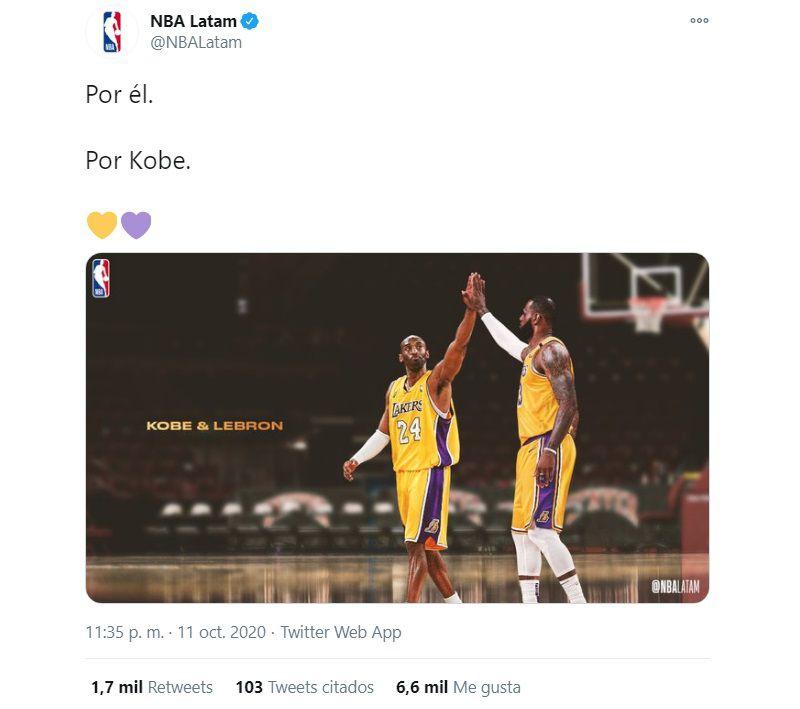 El homenaje de NBA Latinoamérica a Kobe Bryant