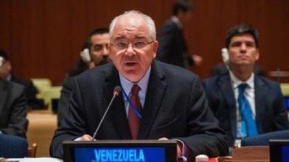 Rafael Ramírez, durante su gestión como embajador de Venezuela en las Naciones Unidas