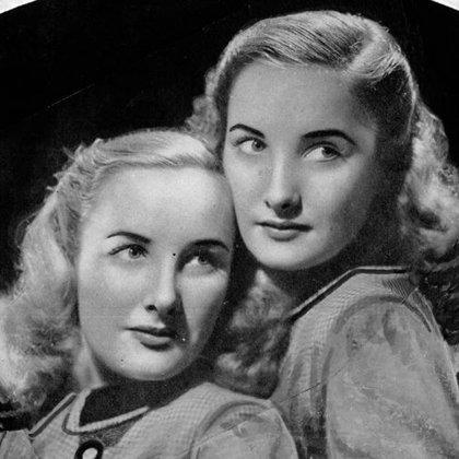 Las gemelas Mirtha y Silvia Legrand, durante su juventud