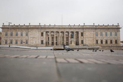 Foto de archivo. Panorámica del Congreso colombiano durante el aislamiento obligatorio contra la propagación del coronavirus en Bogotá, Colombia, 20 de marzo, 2020. REUTERS/Leonardo Muñoz. NO VENTAS NO ARCHIVOS