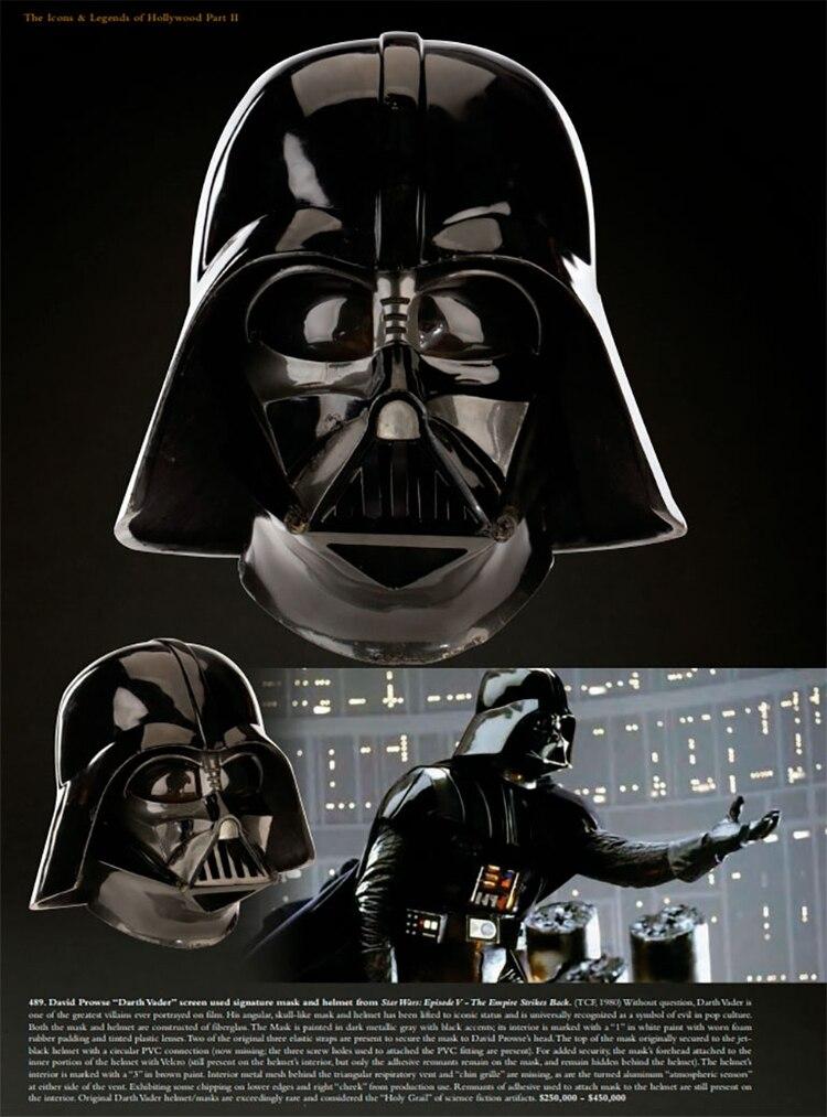 Así se promociona la subasta del casco de Darth Vader por parte de la firma rematadora Profiles in History