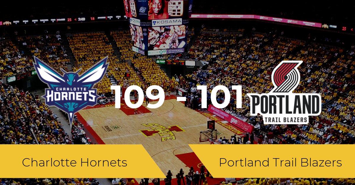 Charlotte Hornets se queda con la victoria frente a Portland Trail Blazers por 109-101