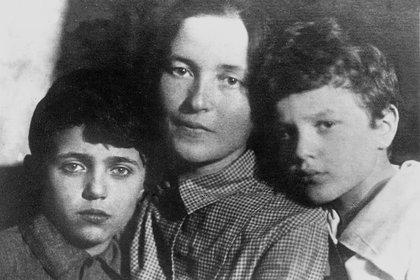 Julia Schucht con Delio y Giuliano