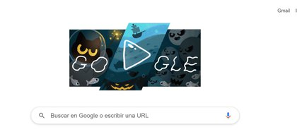 Google publishes doodles in honor of Halloween