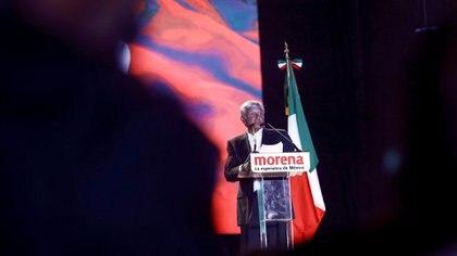 Andrés Manuel cuando ganó las elecciones el pasado 1 de julio (Reuters)