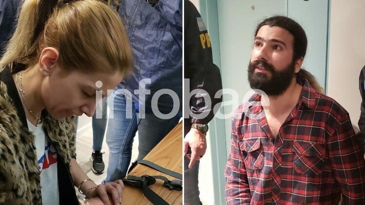 Mashoreh Sabzali y Sajjad Samiel Naserani, en el momento de su arresto
