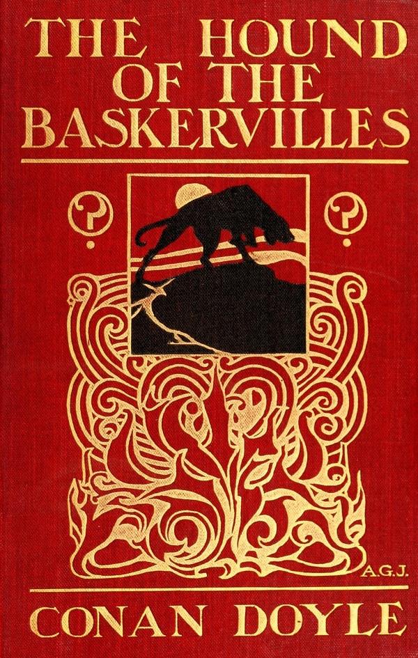 Portada de la primera edición El perro de los Baskerville. Edición publicada por entregas en el The Strand Magazine entre 1901 y 1902