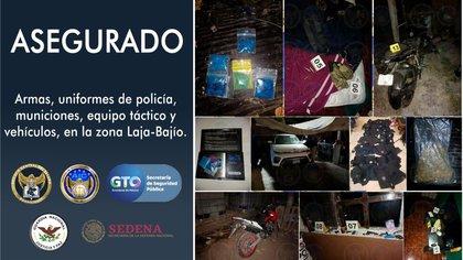 Guanajuato - Decomisan armas y municiones tras denuncia en Guanajuato AZUBGYFF3FDDRLKRYYFLCBCYOM