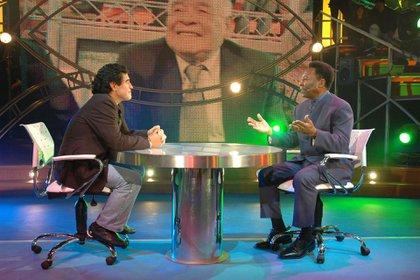 """Diego Maradona con Pelé en """"La noche del Diez!"""" (NA)"""