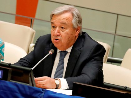 El secretario general de la ONU, Antonio Guterres.  EFE / Peter Foley