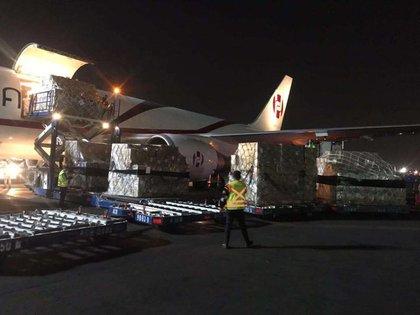 primer cargamento de suministros médicos a México (Foto: ccchinamexico.org)