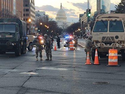 Amanece en Washington DC el día de la asunción de Joe Biden (Infobae)