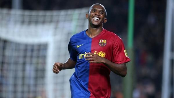 Eto'o ganó dos Champions League con el Barcelona