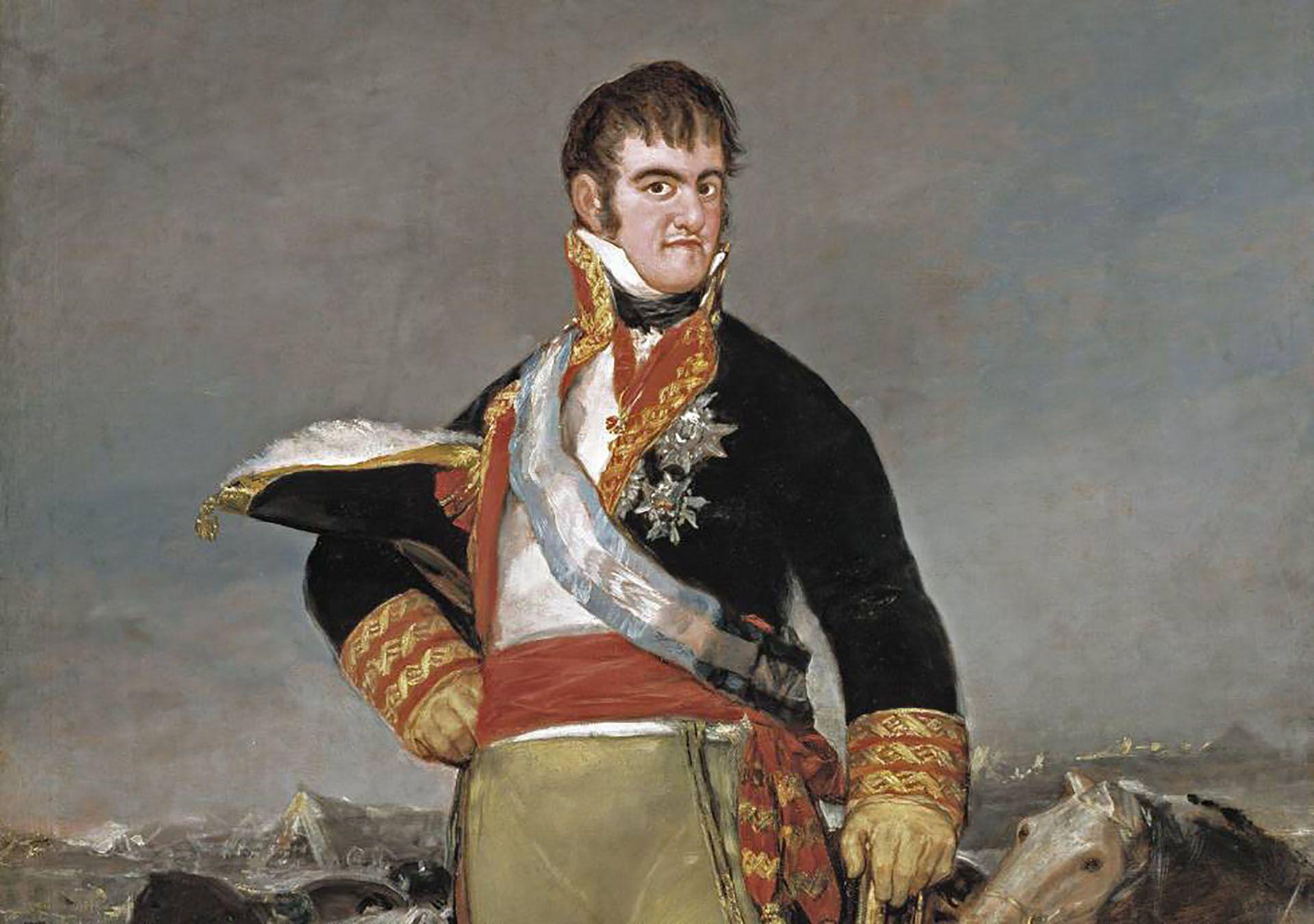 'Fernando VII en un campamento', cuadro de Francisco de Goya. Colección del Museo del Prado, de Madrid (España).