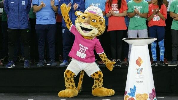 Pandi, la mascota de los Juegos Olímpicos de la Juventud Buenos Aires 2018 (Nicolás Aboaf)