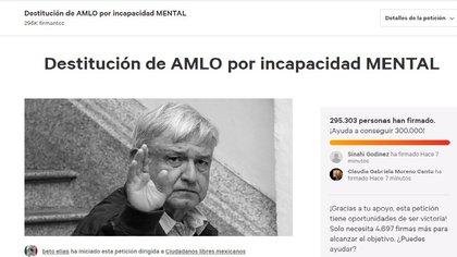 Piden a López Obrador abandonar la silla presidencial (Foto: Especial).