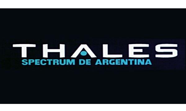 El logo de Thales Spectrum Argentina, cuya concesión fue revocada en 2004. La concesión había sido denunciada judicialmente en 2001 por la Oficina Anticorrupción