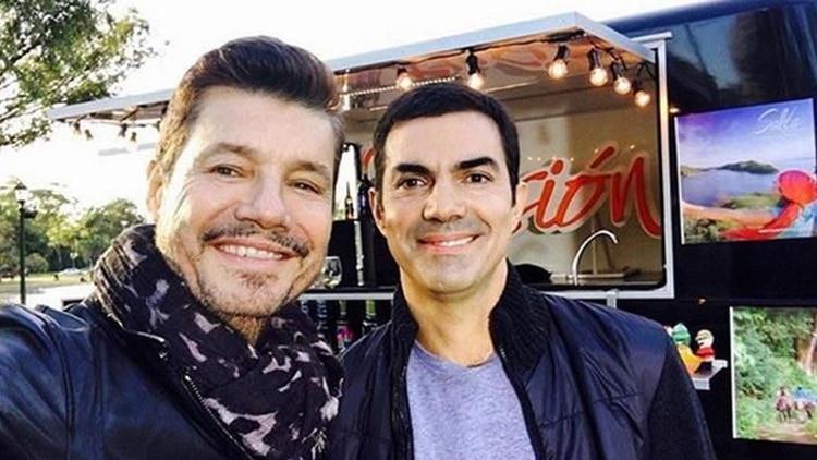 Marcelo Tinelli junto a Juan Manuel Urtubey, uno de los precandidatos presidenciales de Alternativa Federal