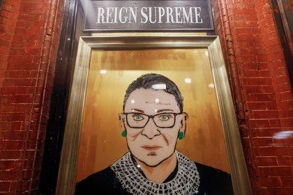 Fotografía de la jueza Ruth Bader Ginsburg,