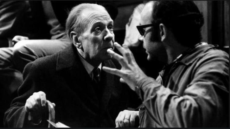 Borges y Hugo Santiago