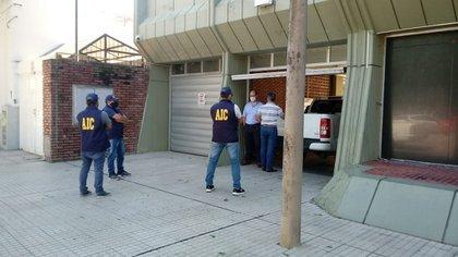 El allanamiento a la empresa Vicentin (Foto: Reconquista Hoy)