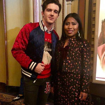 Yalitza se mostró sonriente junto a la estrella estadounidense (Instagram)