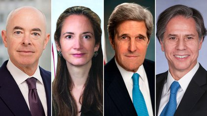 Alejandro Mayorkas, Avril Haines, John Kerry y Anthony Blinken