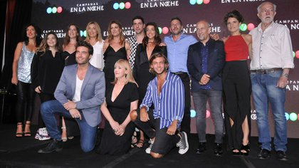"""El elenco de """"Campanas en la noche"""" (Teleshow)"""