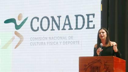 Ana Gabriela Guevara, titular de Conade, refirió que ella estuvo en la asamblea en la que se eligió a la actual presidenta de Ademeba (Foto: Conade)