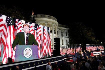 Donald Trump durante su discurso de aceptación en la convención republicana. REUTERS/Kevin Lamarque
