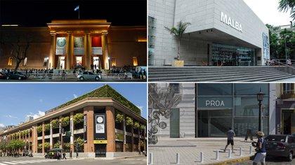 Los museos Nacional de Bellas Artes, Malba, Moderno y Fundación Proa