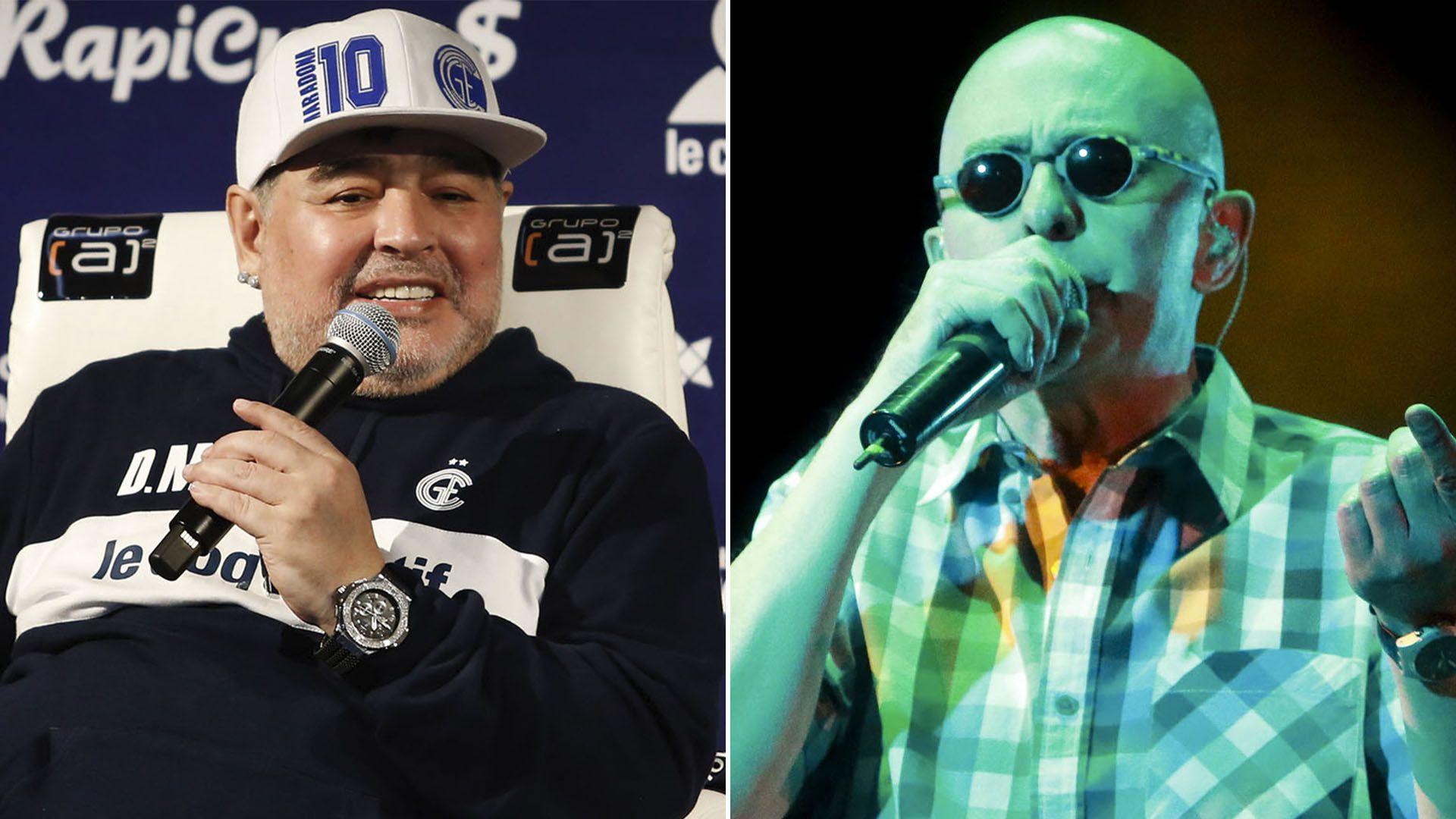 El cantante le dedicó unas palabras a Diego Maradona