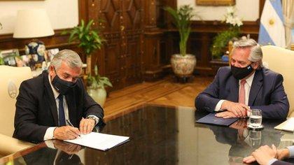 El gobernador de Jujuy, Gerardo Morales, mantiene buen diálogo con el presidente Alberto Fernández