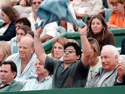 En un partido de la Copa Davis acompañando a la delegación albiceleste