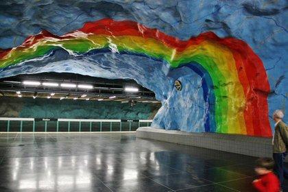 T-Centralen Station en Estocolmo es una verdadera obra de arte bajo tierra