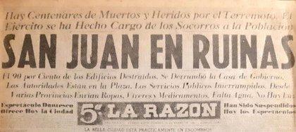 En solo 25 segundos, la ciudad de San Juan se convirtió en escombros.